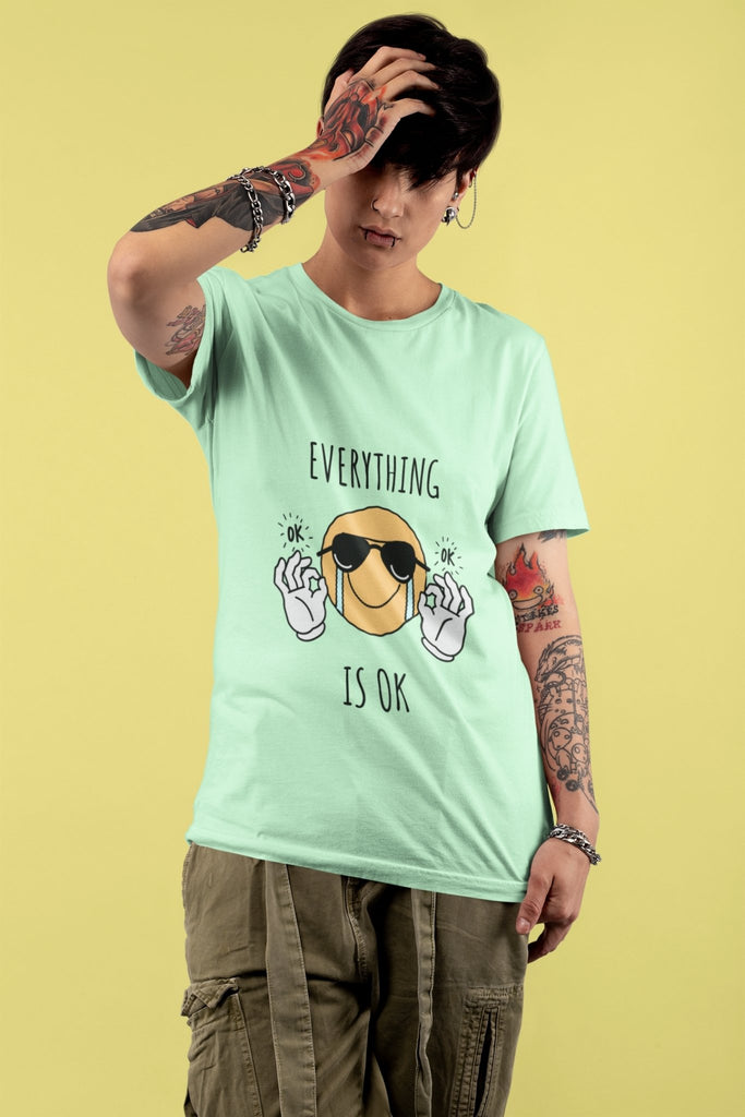 Everything Is OK - Short-Sleeve Unisex T-Shirt - Sharknaut