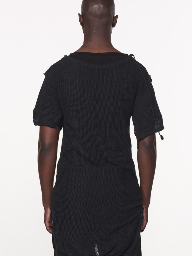 BLACK ROSE MESH LAYER TEE