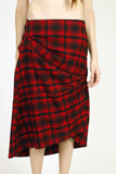 X_ Salem Plaid  Rouch Skirt