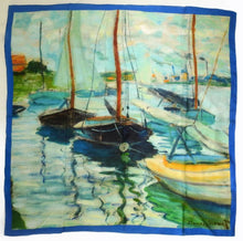 Load image into Gallery viewer, Claude Monet design silk scarf