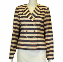 Load image into Gallery viewer, Striped Double Breasted Jacket <br /> Size: 2