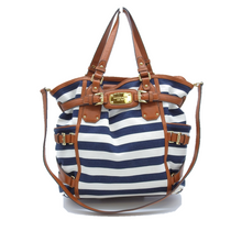 Load image into Gallery viewer, Striped Canvas Tote