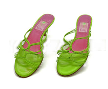 Load image into Gallery viewer, Bright Green Leather Mule <br /> Size: 9.5
