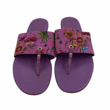 Load image into Gallery viewer, Purple Floral Thong Sandals <br /> Size: 9.5