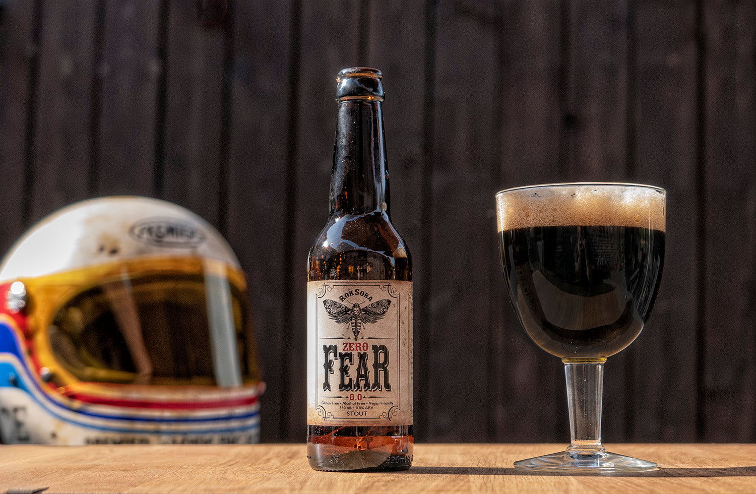 Rok Soba's 'Zero FEAR' 0.0% ABV Stout (Photo © Soberito)