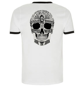Men's Too Badass For Booze Ringer T-Shirt - Rok Soba