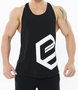 MENS SIDE LOGO DEEP CUT TANK