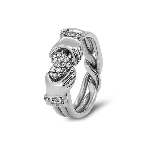 UNISEX CLADDAGH PLAT DIAMOND 3JOL-U