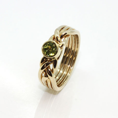 Womens Gold 4CW-PERIDOT-L