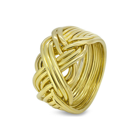 Gold Puzzle Ring 10B-M