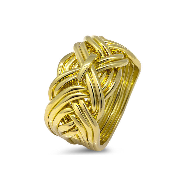Gold Puzzle Ring 11WD-M