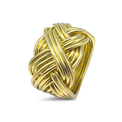 Gold Puzzle Ring 14B-M