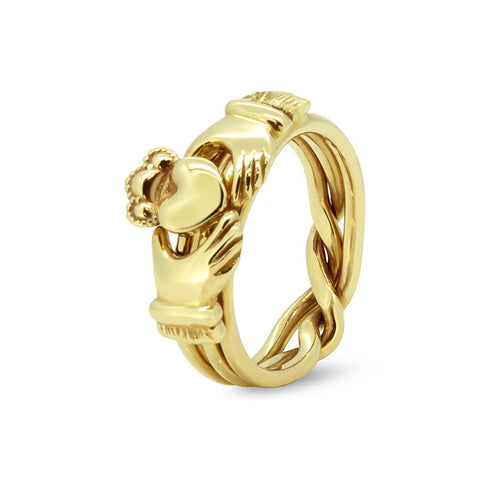 Gold Puzzle Ring 3AM-U