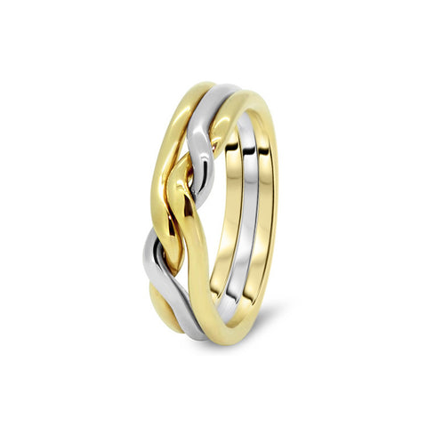 Gold Puzzle Ring 3CN L