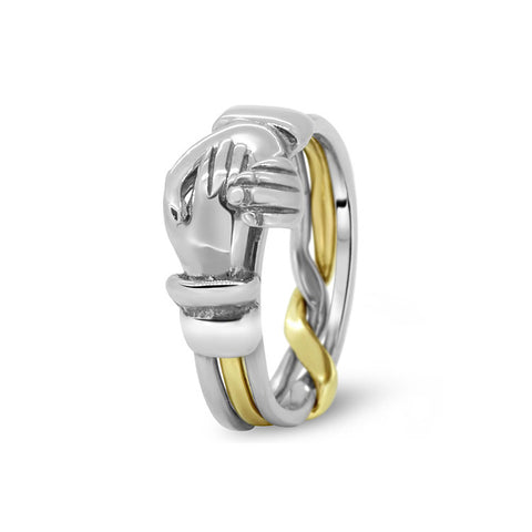 Gold Puzzle Ring 3CR-L