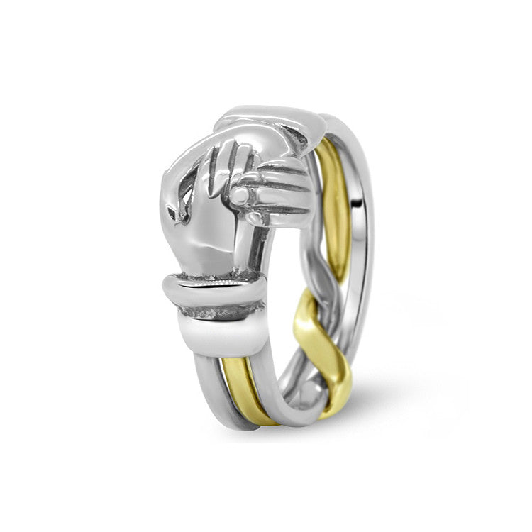 Gold Puzzle Ring 3CR-M