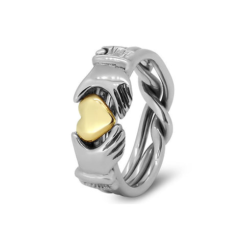 Gold Puzzle Ring 3JOL-U