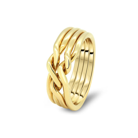 Gold Puzzle Ring 4CN-L