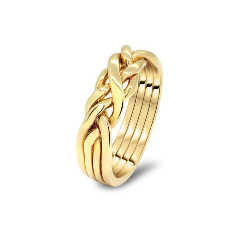 Gold Puzzle Ring 4CW-L
