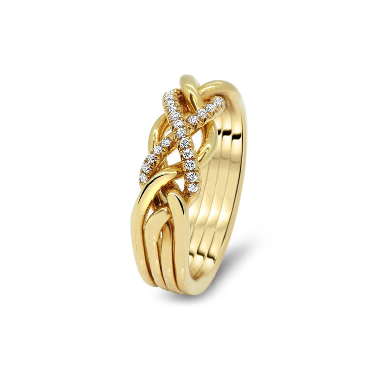 Womens Gold Diamond 4cw Ld Puzzle Rings Creations