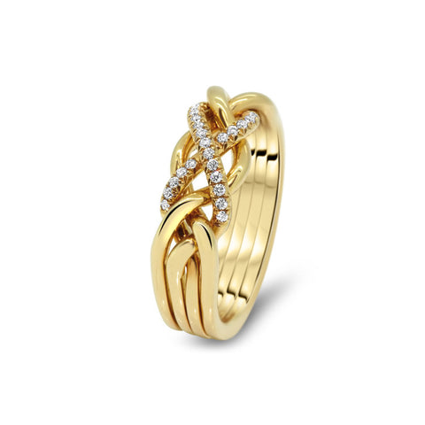 Gold Puzzle Ring 4CW-LD