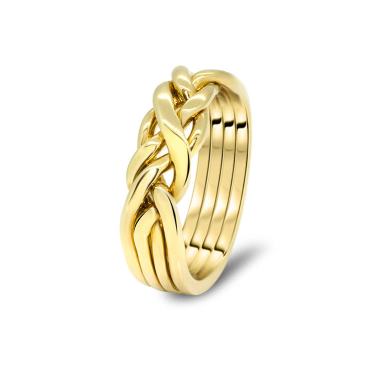 Gold Puzzle Ring 4CW-M