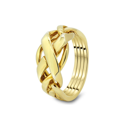 Gold Puzzle Ring 4FX-L