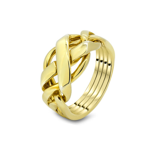 Gold Puzzle Ring 4FX-M