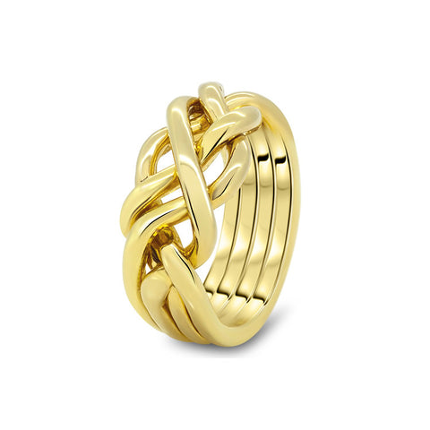 Gold Puzzle Ring 4HB-M