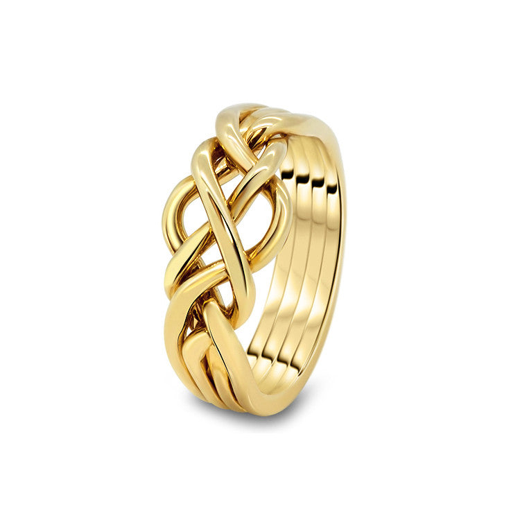 Gold Puzzle Ring 4O-L