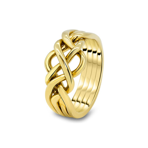 Gold Puzzle Ring 4O-M