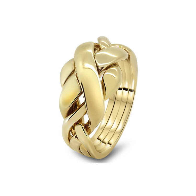 Gold Puzzle Ring 4RC-L