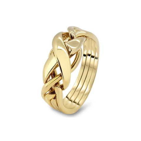 Gold Puzzle Ring 4RX-L