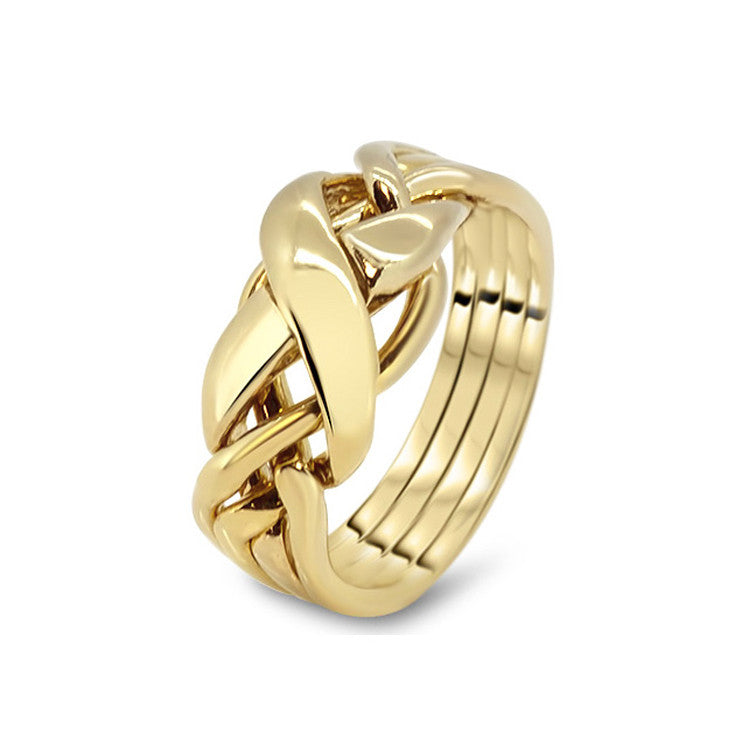 Gold Puzzle Ring 4RX-M