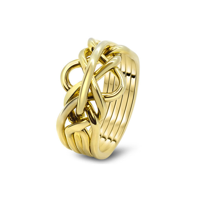 Gold Puzzle Ring 5-L