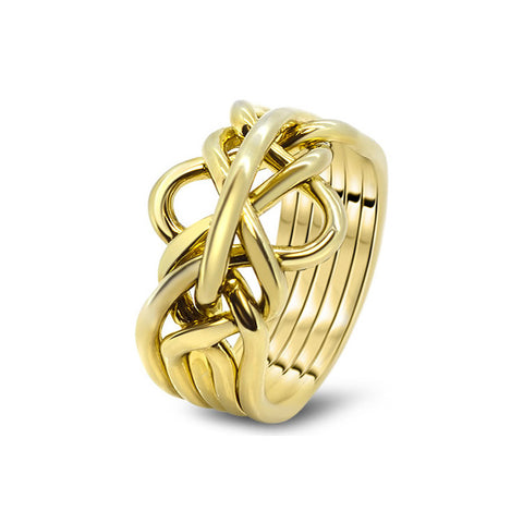 Gold Puzzle Ring 5-M