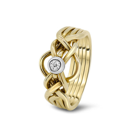 Gold Puzzle Ring 5D-LD