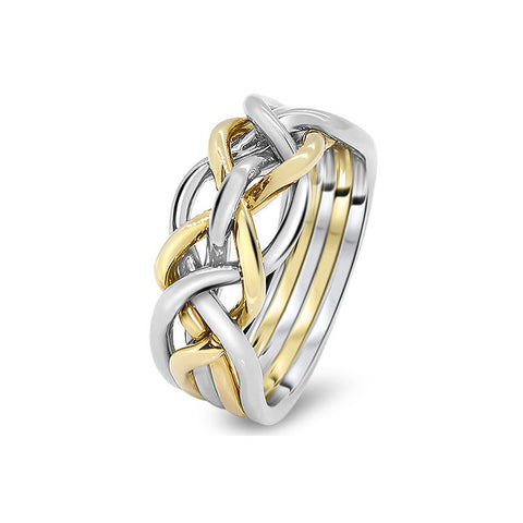 Gold Puzzle Ring 5D-L