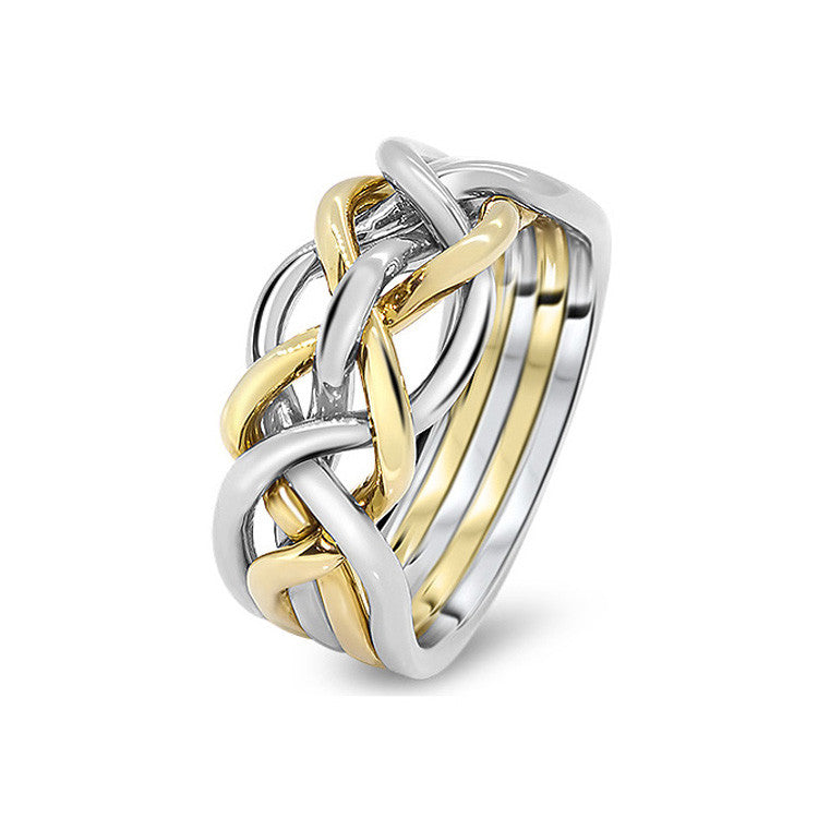 Gold Puzzle Ring 5D-M