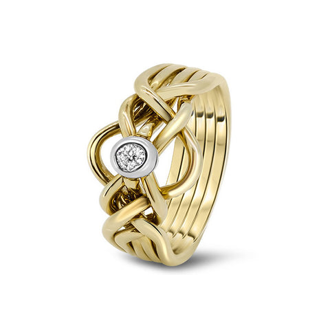 Gold Puzzle Ring 5D-MD