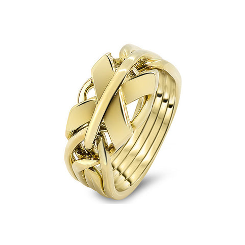 Gold Puzzle Ring 5FX-M