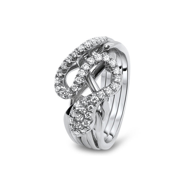 Gold Puzzle Ring 5RS-LD