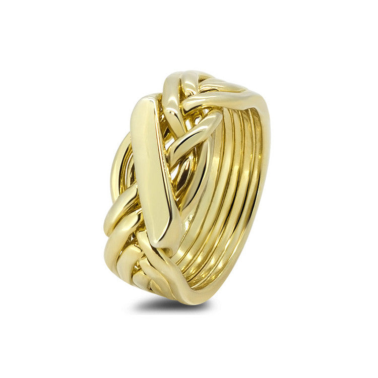 Gold Puzzle Ring 61H-L