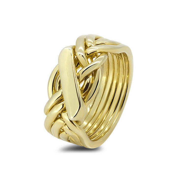 Gold Puzzle Ring 61H-M
