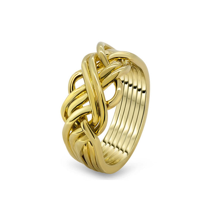Gold Puzzle Ring 6AWB-L