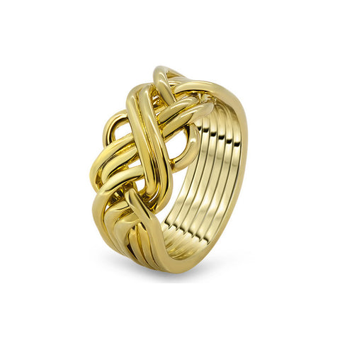 Gold Puzzle Ring 6AWB-M