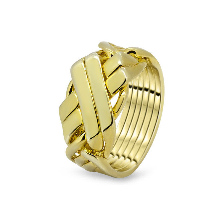 Gold Puzzle Ring 6BFX-M