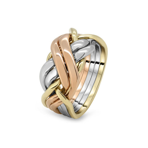 Gold Puzzle Ring 6BRX L
