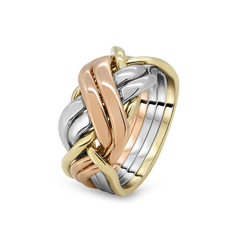 Gold Puzzle Ring 6BRX-M