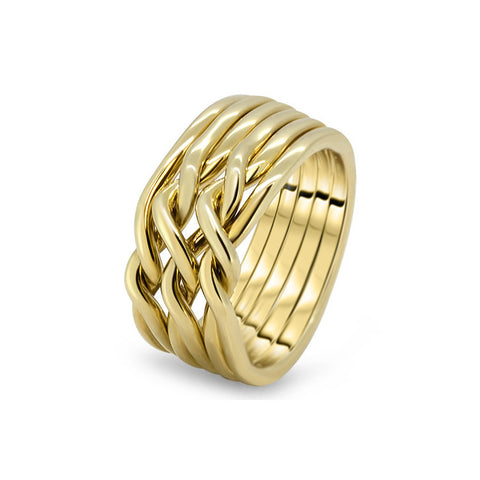 Gold Puzzle Ring 6CN-L